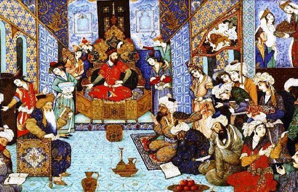 سلطان محمود غزنوی-مینیاتور-قابوسنامه-متنخوانی-ویراستاران