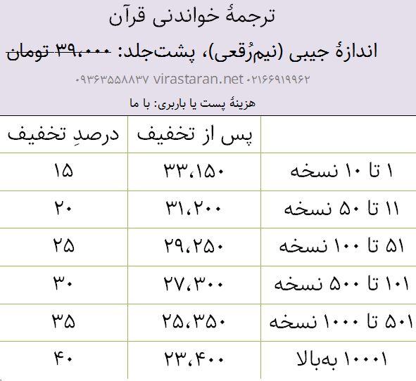 ترجمه خواندنی قرآن